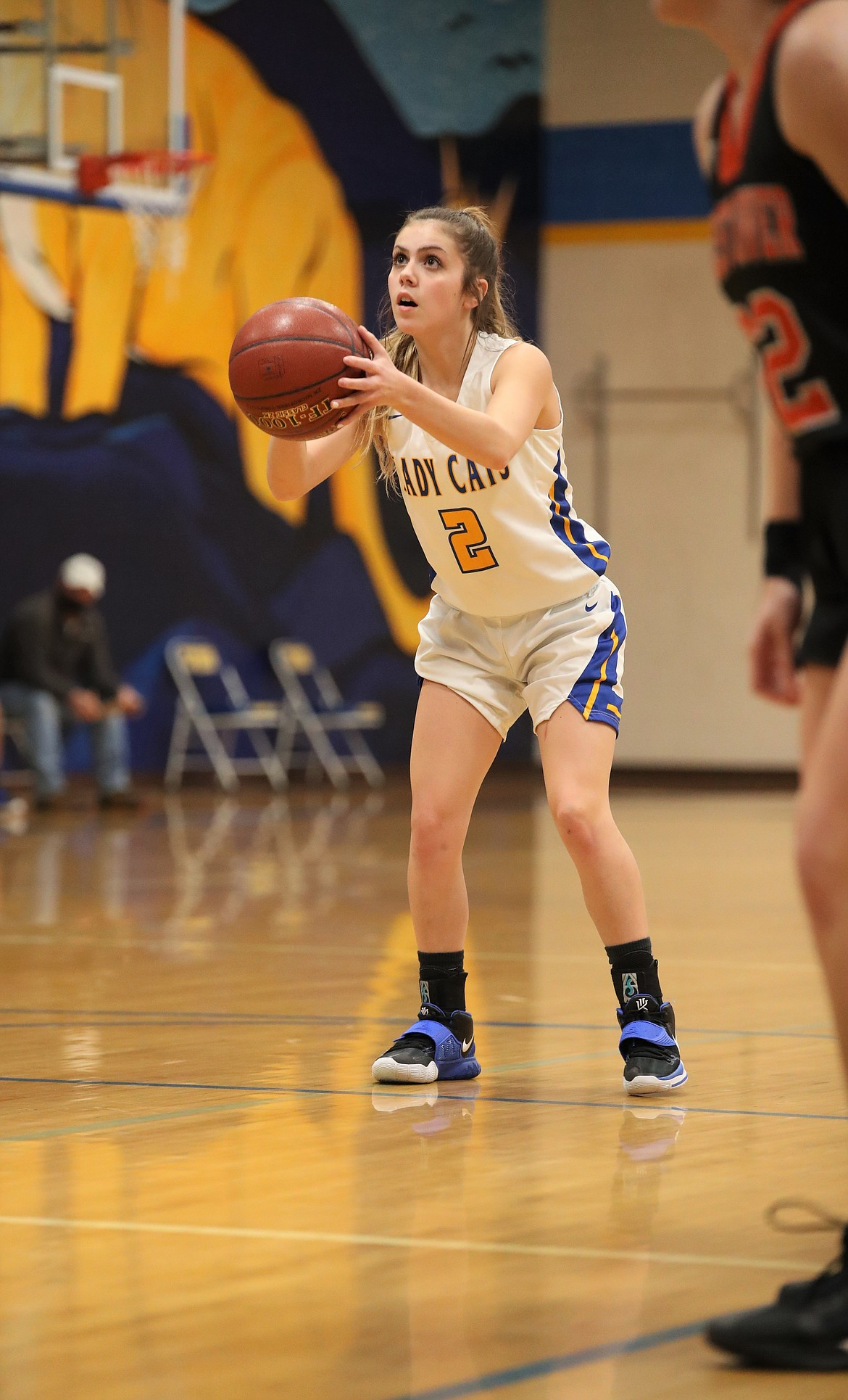 Sophomore Paige Valliere attempts a free throw on Friday.