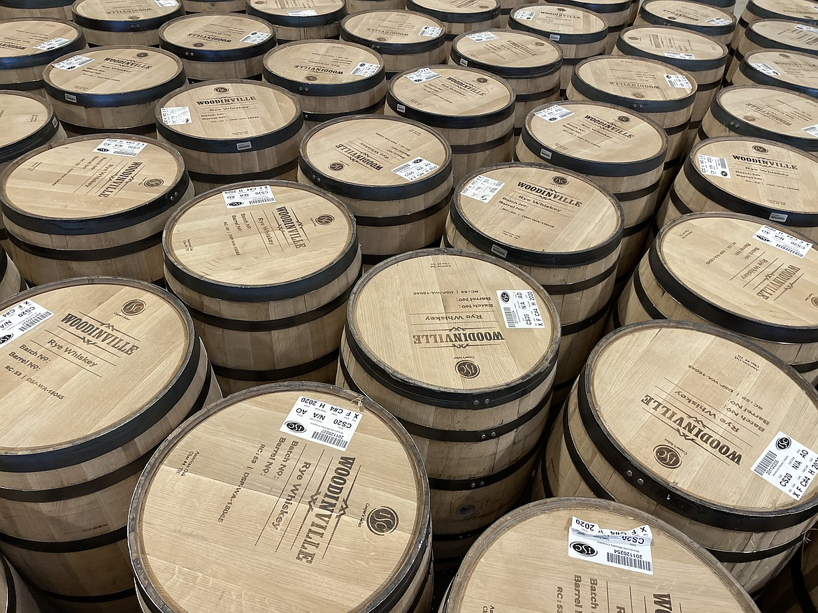 Oak barrels ready to be filled.