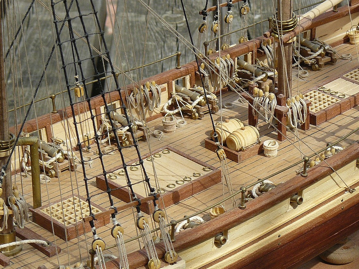 Barbary pirate ship model owned by maritime fiction writer Alaric Bond.