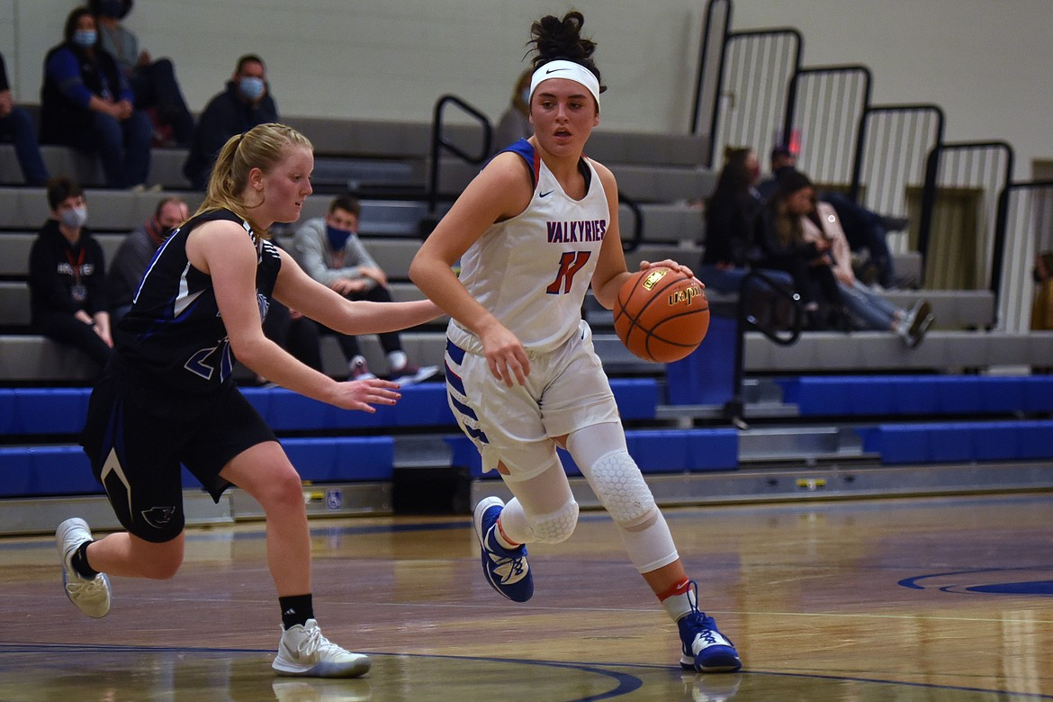 Emma Berreth looks to drive in against Stillwater Saturday.