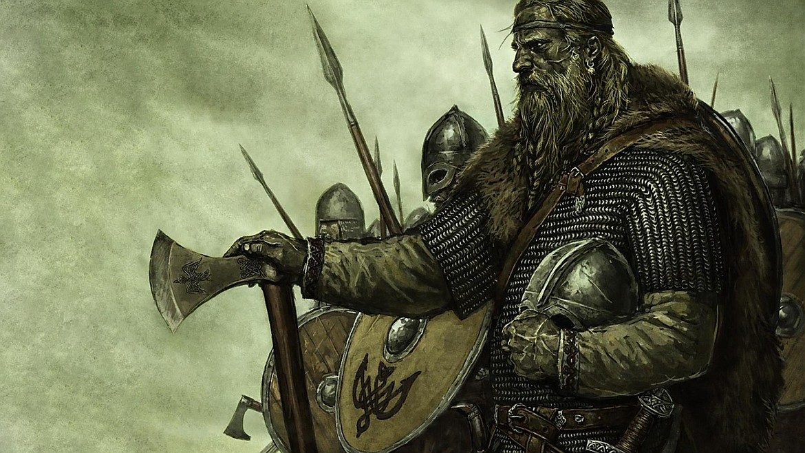 Viking warriors would have looked more like this going into battle than as depicted by fiction and Hollywood wearing horned helmets.