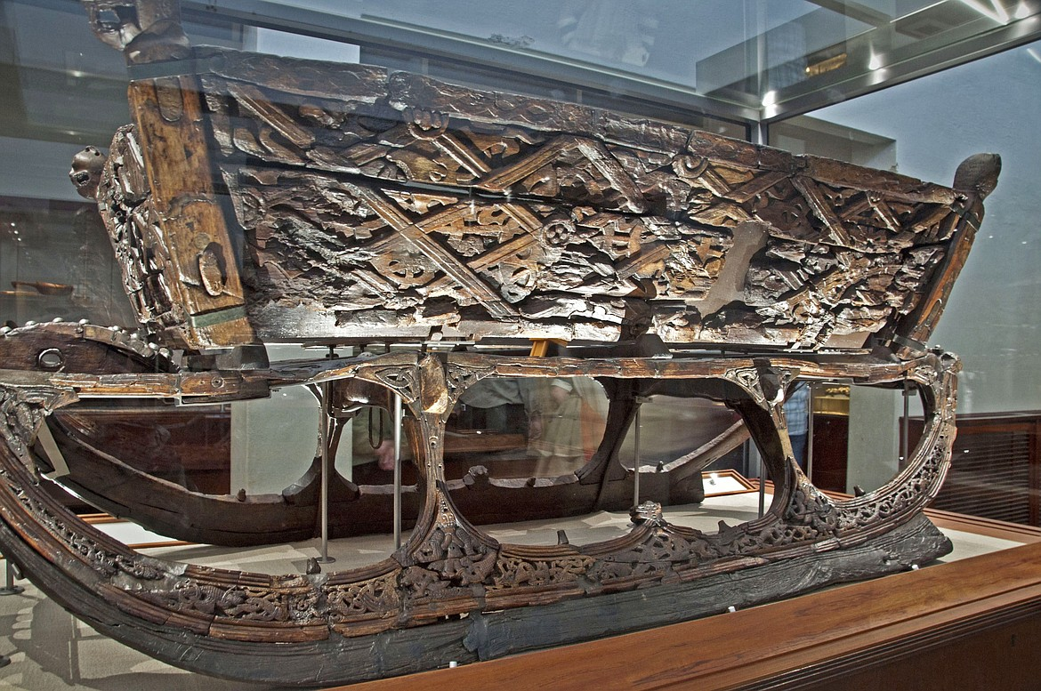Vikings were excellent craftsmen in metalworks and wood as shown in this 9th century Viking sled in Oslo's Viking Ship Museum.
