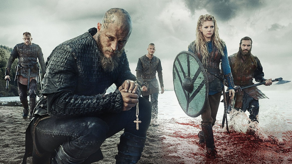 Pagan Vikings settling in Christian lands quickly adopted Christianity, as depicted in this scene from History Channel's Viking series.