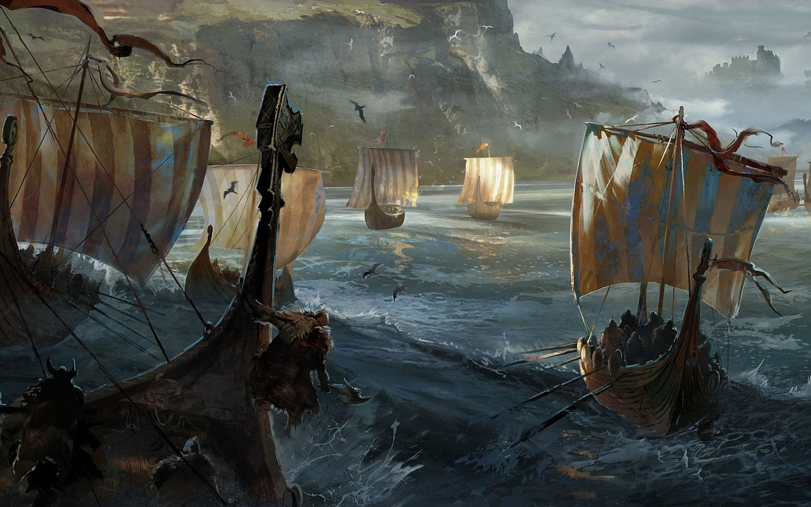 Sea-going Viking longboats, often with a carved dragon head on the bow to ward off evil spirits, could also maneuver in shallow waters and rivers, often attacking cities far inland such as Hamburg and Paris.