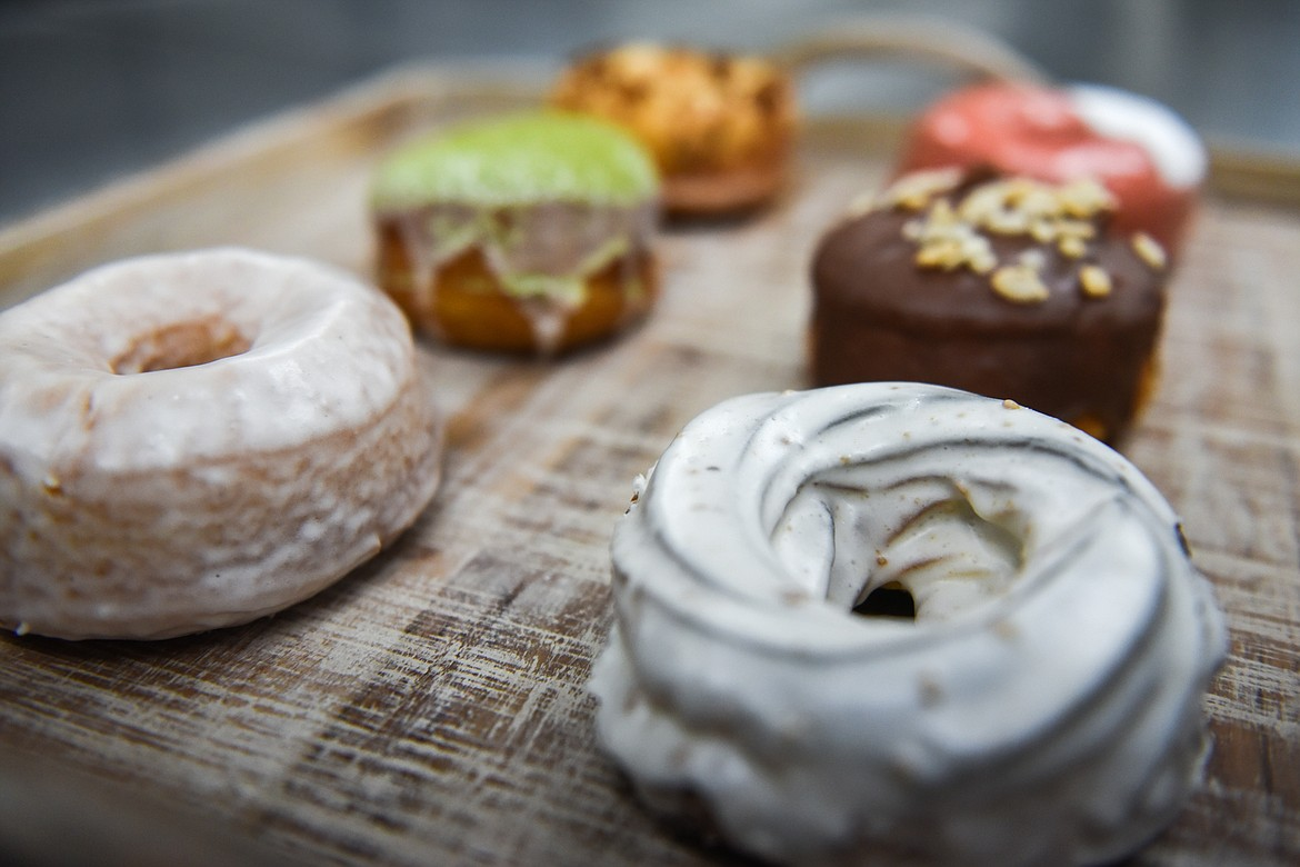 A selection of donuts on display at The Spot in Kalispell on Friday, Jan. 8. (Casey Kreider/Daily Inter Lake)