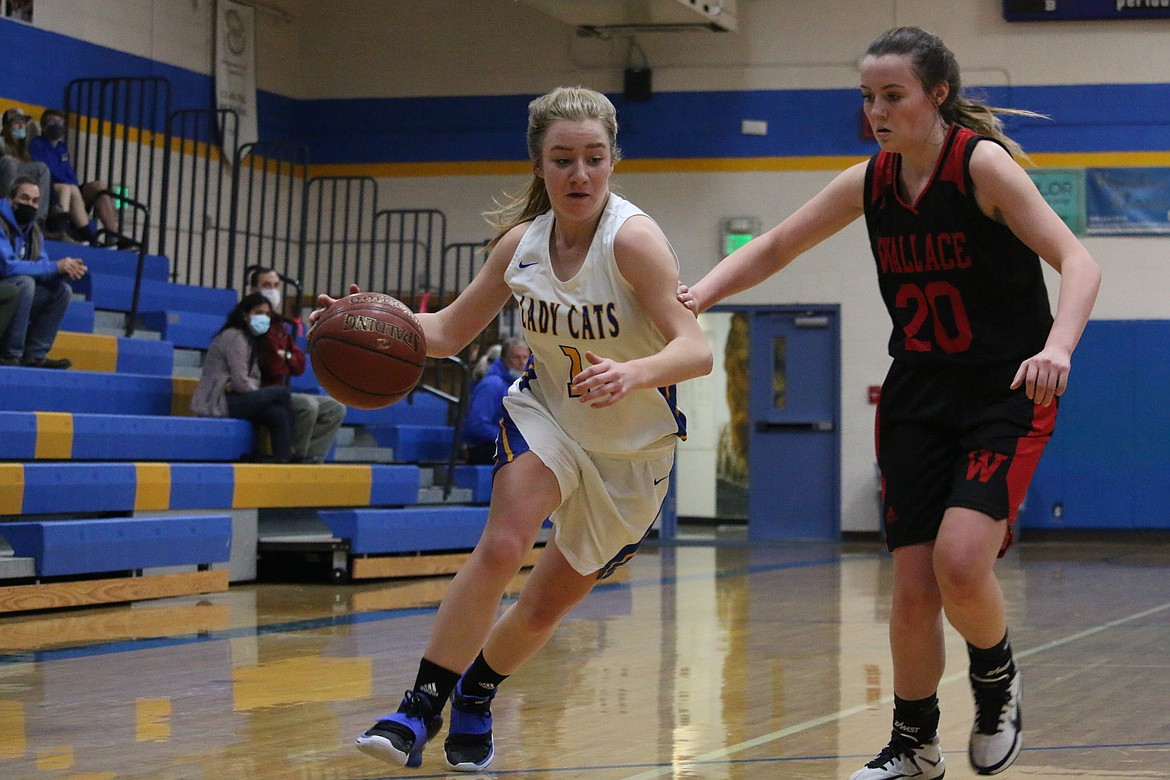Junior Katelyn Matteson looks to attack the paint on Tuesday.