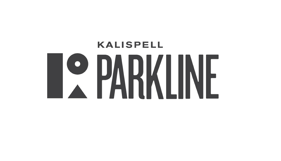 The proposed logo for the Kalispell Parkline Trail, designed by Highline Design Company LLC.