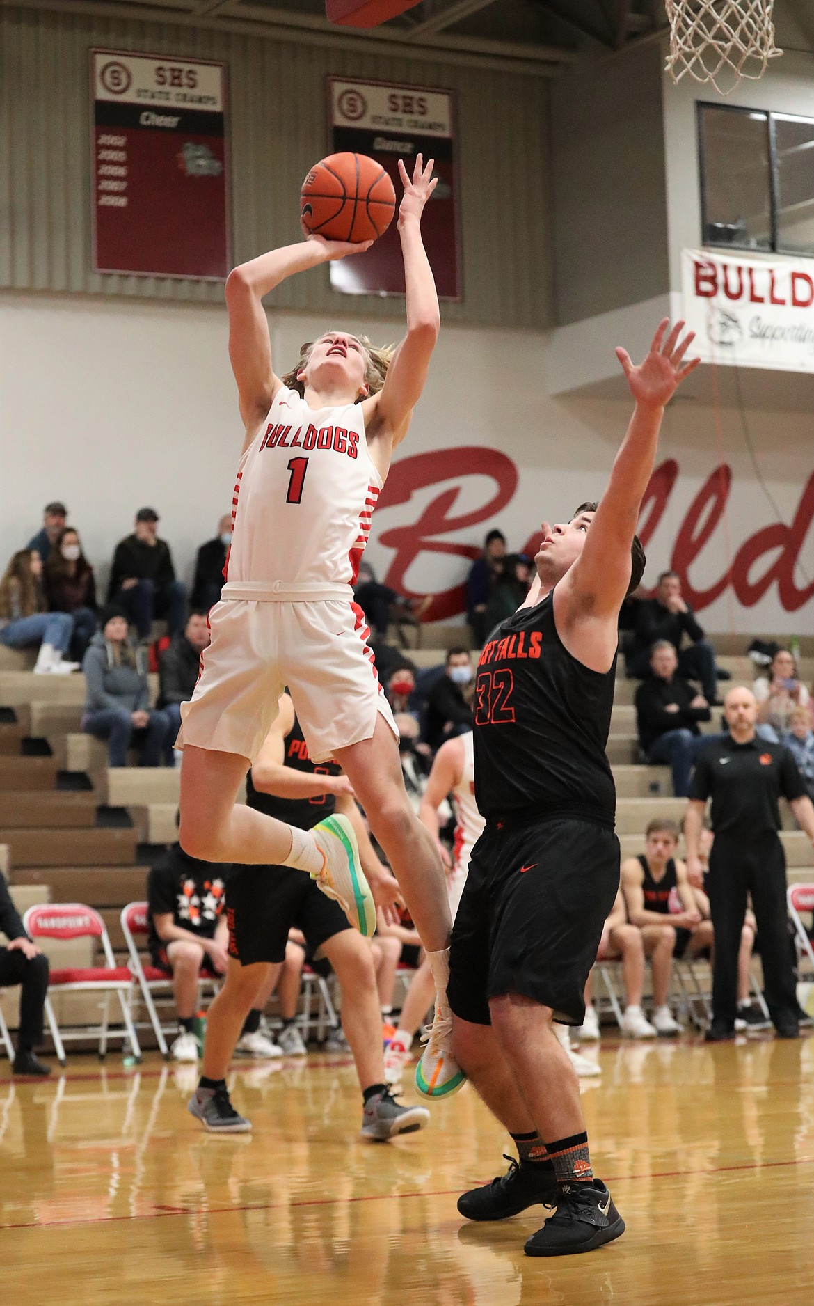 Colin Roos elevates for a layup on Wednesday.