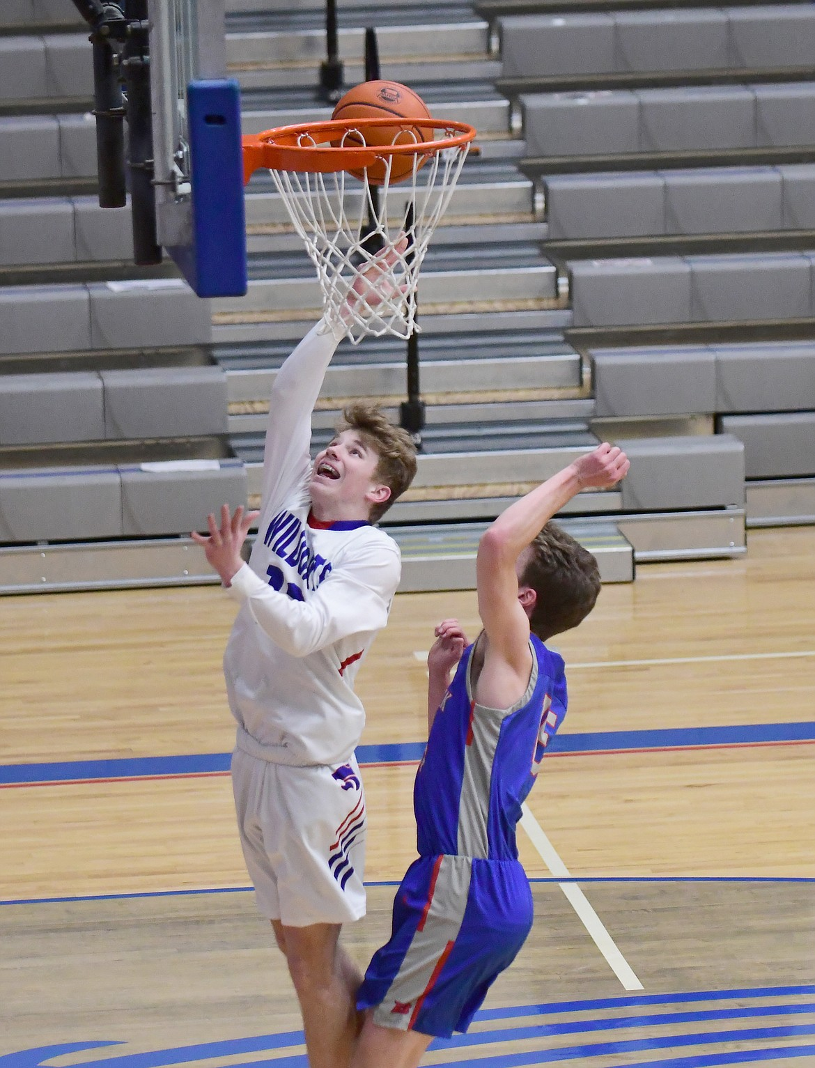 Alihn Anderson with a shot against Bigfork on Tuesday. (Teresa Byrd/Hungry Horse News)