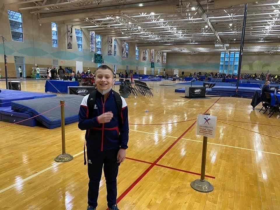 Courtesy photo Avant Coeur Gymnastics Level 8 Conan Tapia at the San Antonio Invitational in Texas.