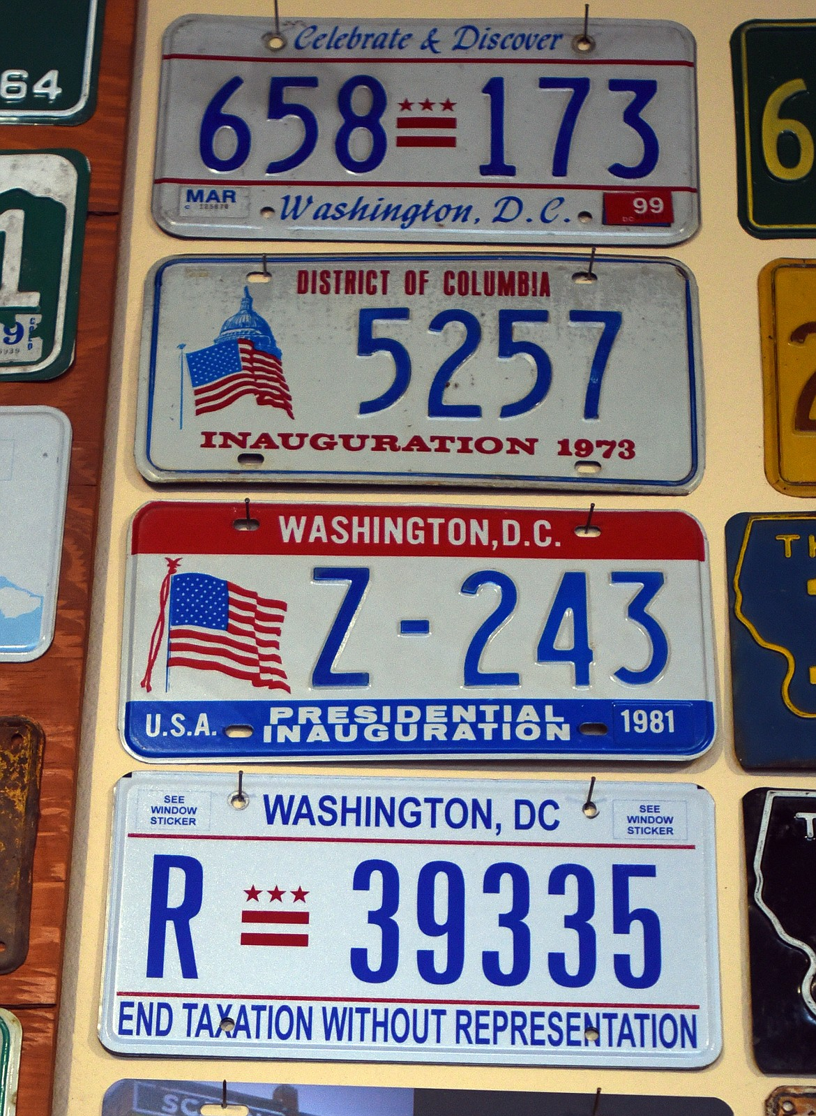 Ken Fitzgerald's license plate collection includes plates from all 50 states as well as the District of Columbia and even some foreign plates. (Jeremy Weber/Daily Inter Lake)