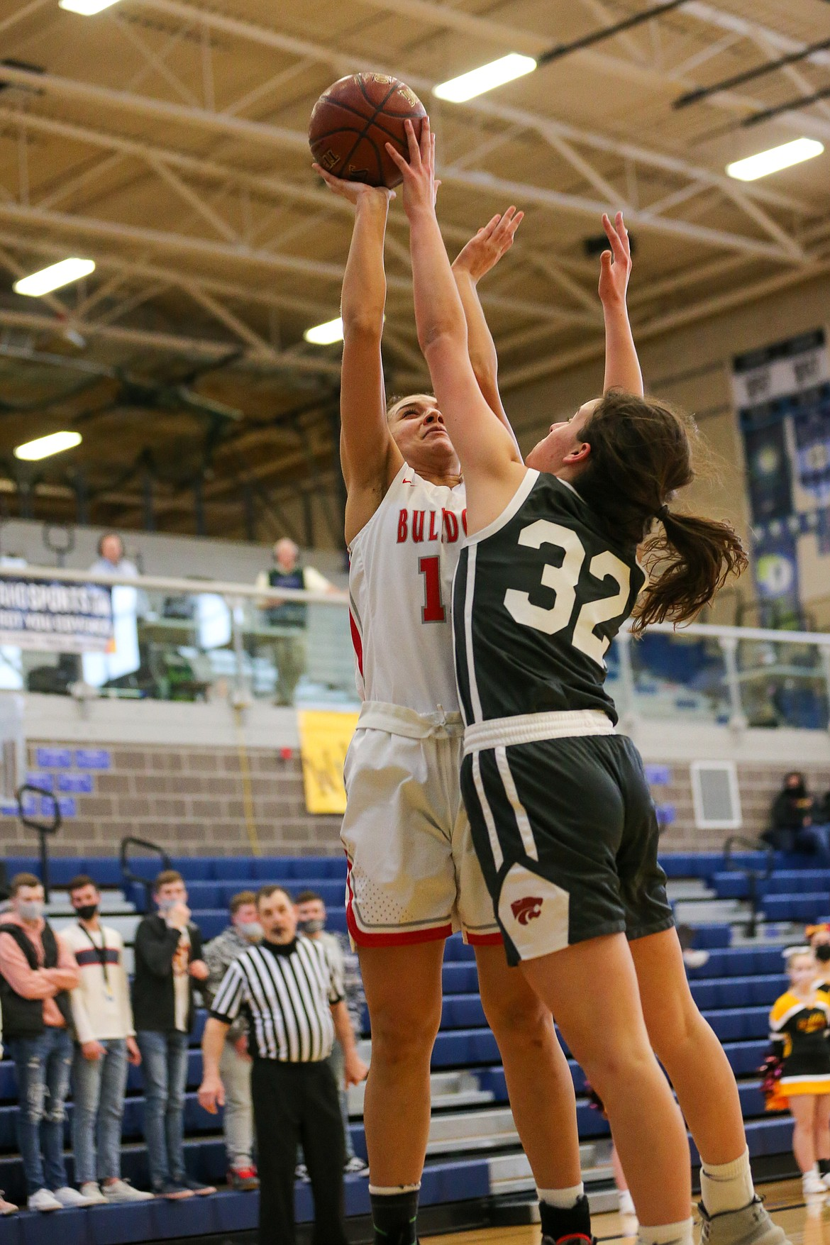 Bella Phillips elevates for a shot on Thursday.