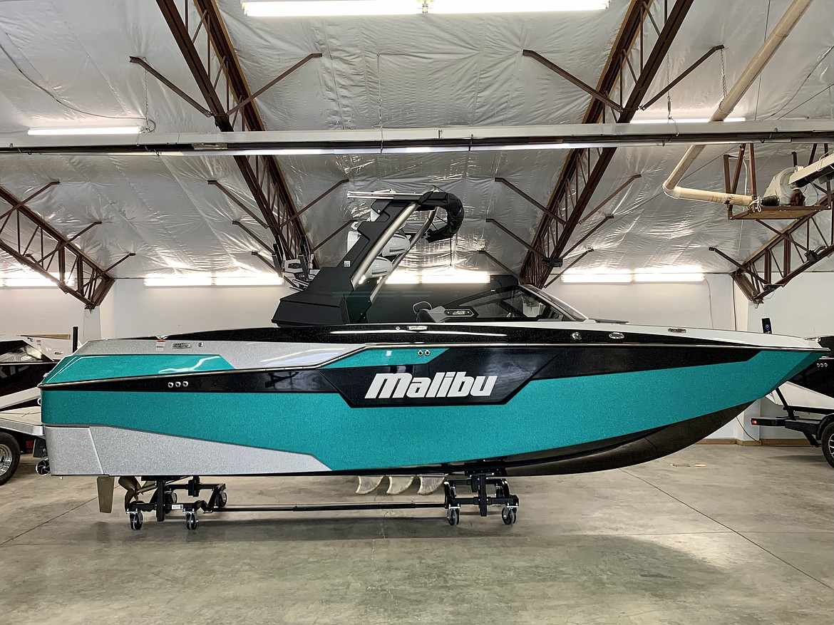 One of the many Malibu boats available at Launch Watersports in Kalispell.