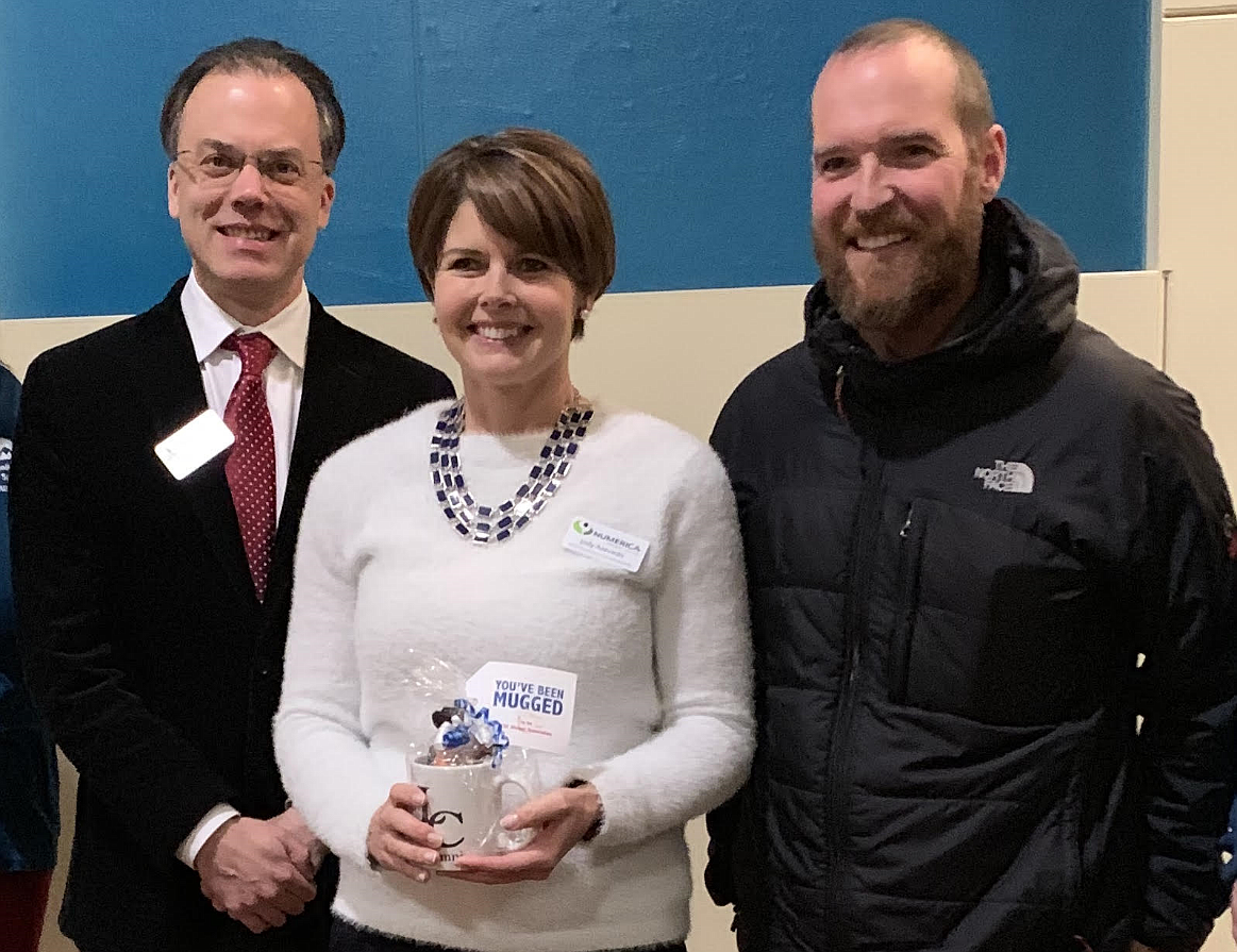 CDA Alumna of the Year 2019. Azevedo stands with Rocky Owens, Senior Director of Coeur d'Alene Campus, and Eric Pemberton, LC Alumnus (2008) and member of the LC State Alumni Association.