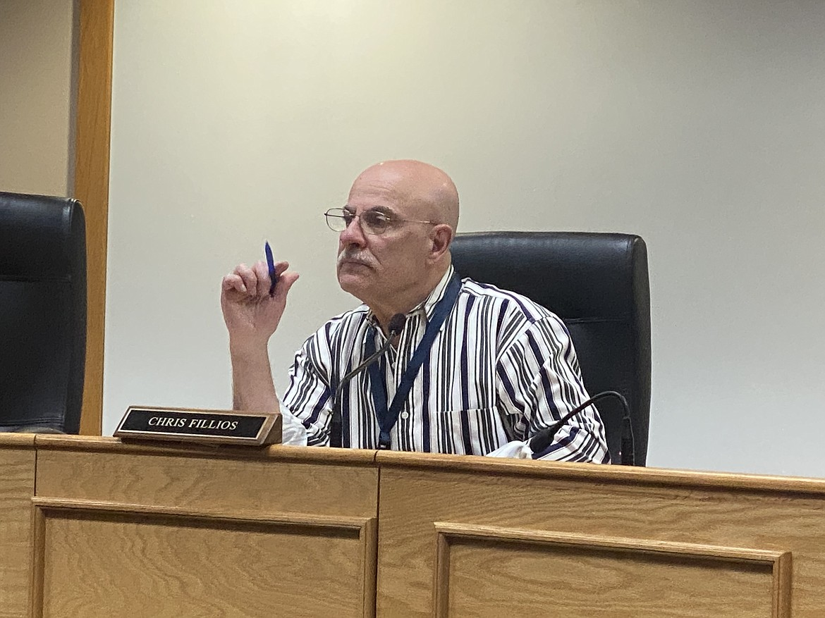 Commissioner Chris Fillios made it very clear during a Monday meeting that even if the public votes against a bond measure for financing the county's attorney center, the building will still be built. (MADISON HARDY/Press)