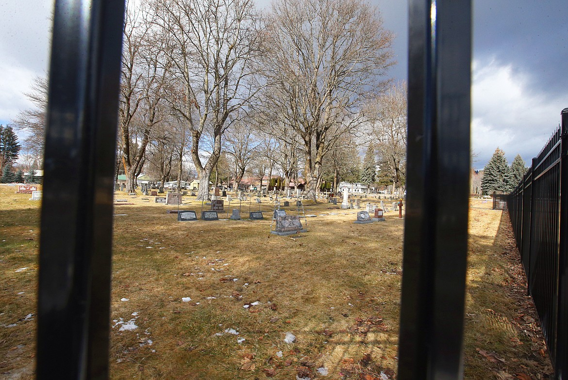 New black steel fencing was recently installed at St. Thomas Cemetery.