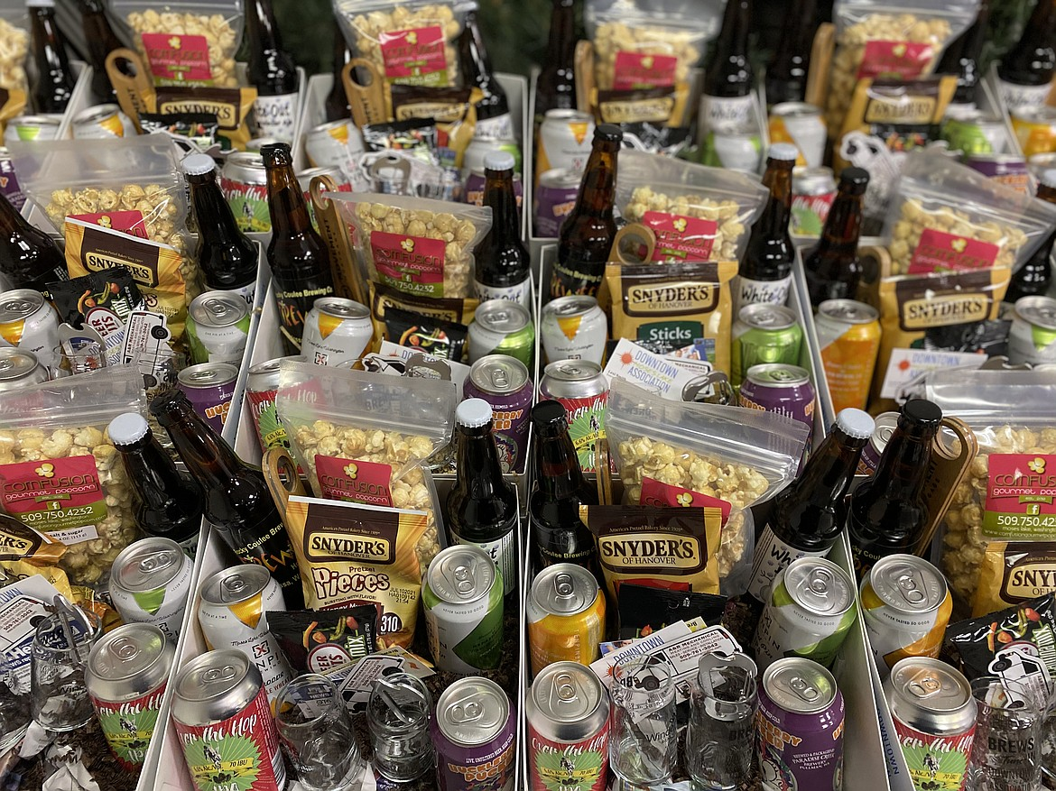 Brews and Tune-IN baskets included snacks, bingo cards to downtown businesses, tasting glasses, and a wide selection of beer and a ticket to Saturday's virtual concert.