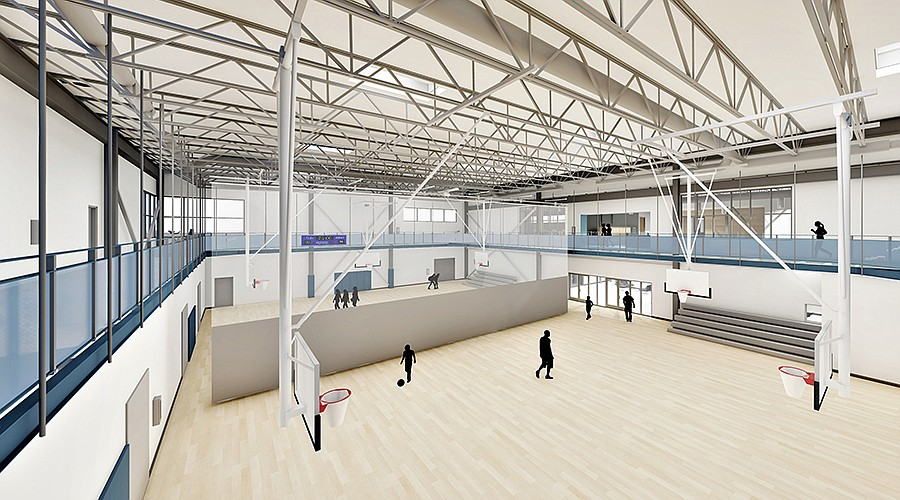 The new Larson Recreation Center will provide large spaces for sports, camps and classes.