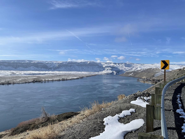 The Columbia River at Crescent Bar.