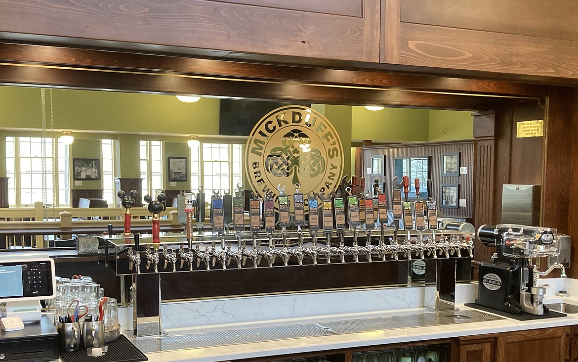 MickDuff's Brewing Company will be celebrating its 15th anniversary in its new home at 419 N. Second Ave. Pictured is the interior of its new brewpub.