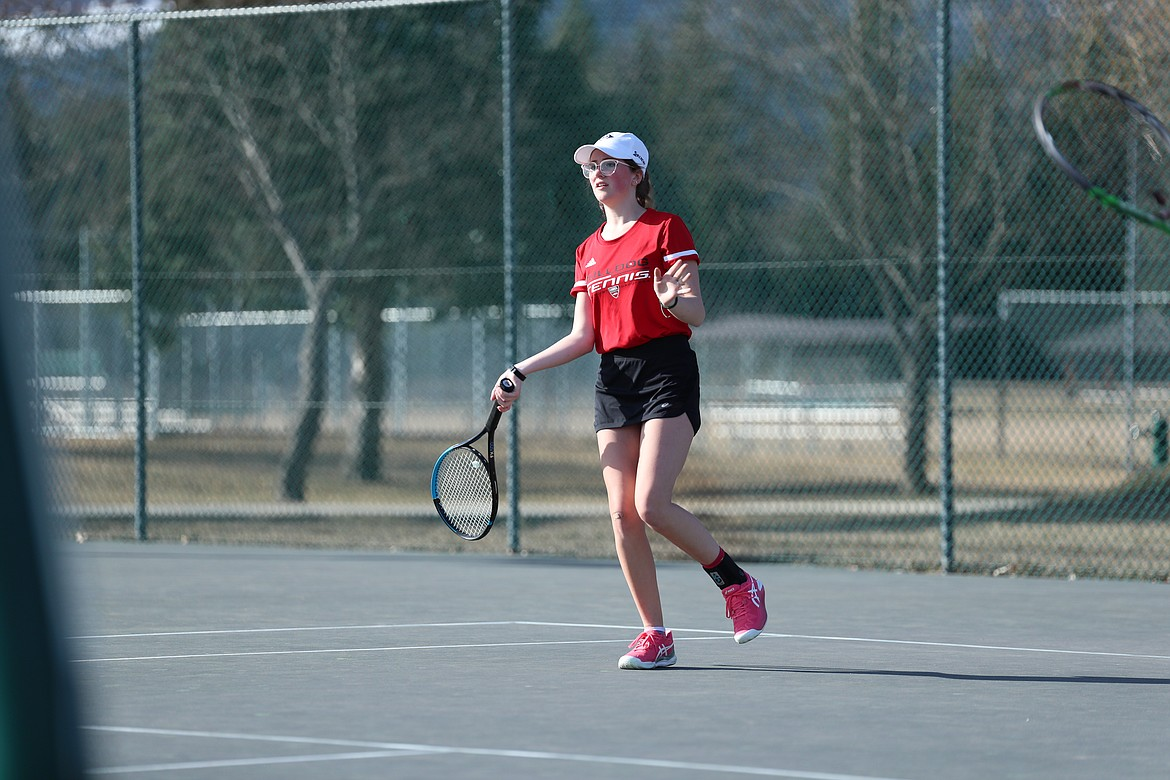 Denali Terry moves forward to attack the net on Wednesday.