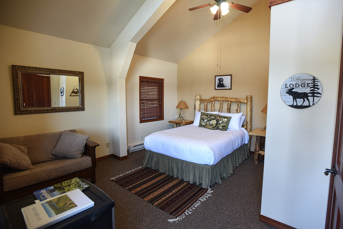 One of several rooms to rent in the guest lodge at Dog Creek Lodge & Nordic Center in Olney on Wednesday. (Casey Kreider/Daily Inter Lake)