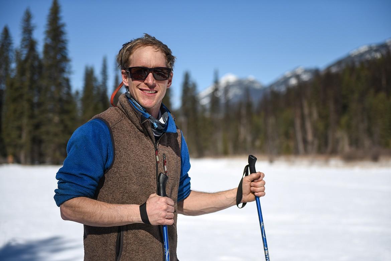 General manager Brett Svetlik on one of the Nordic trails at Dog Creek Lodge & Nordic Center in Olney on Wednesday. (Casey Kreider/Daily Inter Lake)