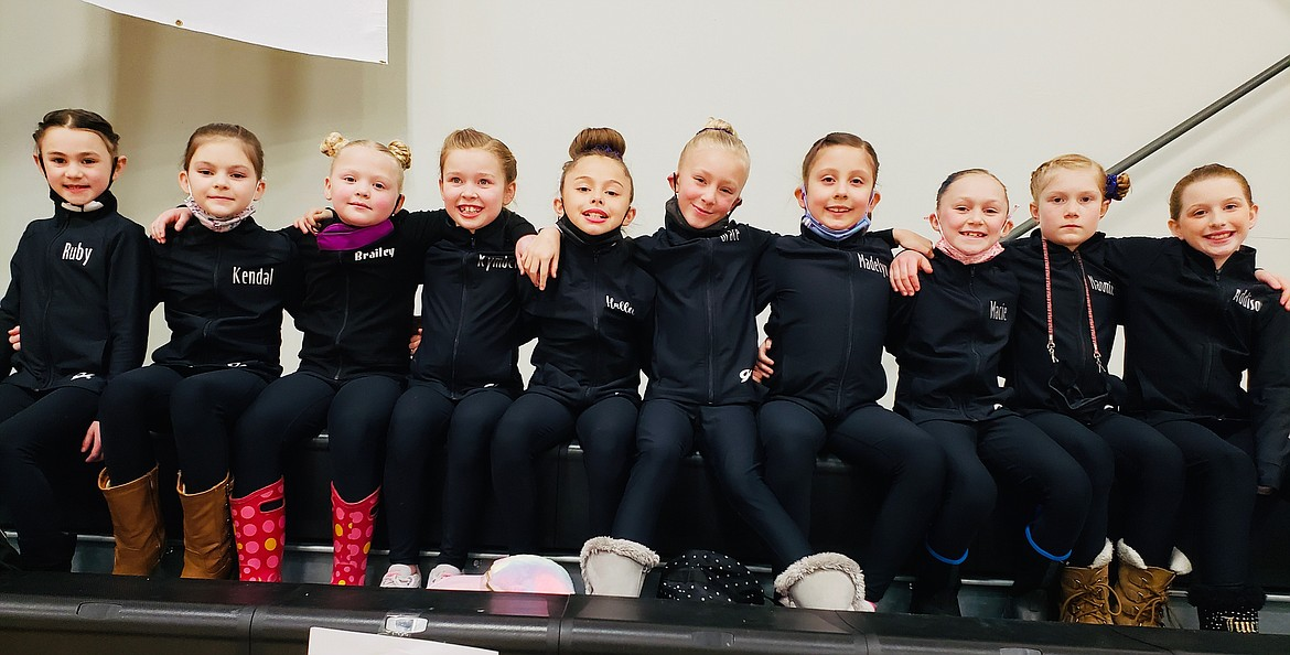 The Silver Valley Gymnastics Bronze Team. Pictured from the left are Ruby Brucick, Kendall Allen, Brayley Hennings, Kymber Mann, Hallie Myles, Grace Pasley, Maddy Furlin, Macie Glindeman, Naomi Miller, and Addy Paul.