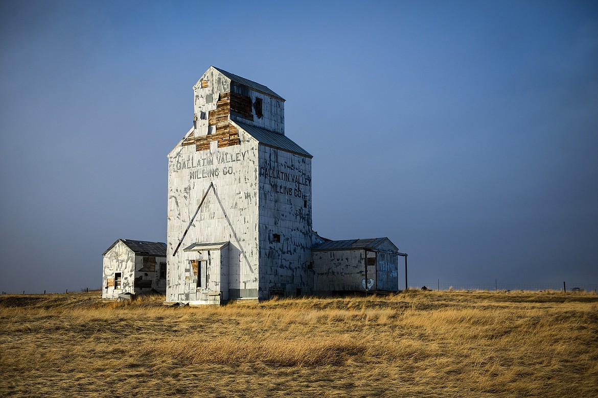 The Gallatin Valley Milling Co. grain elevator outside Choteau on Monday, March 29. (Casey Kreider/Daily Inter Lake)