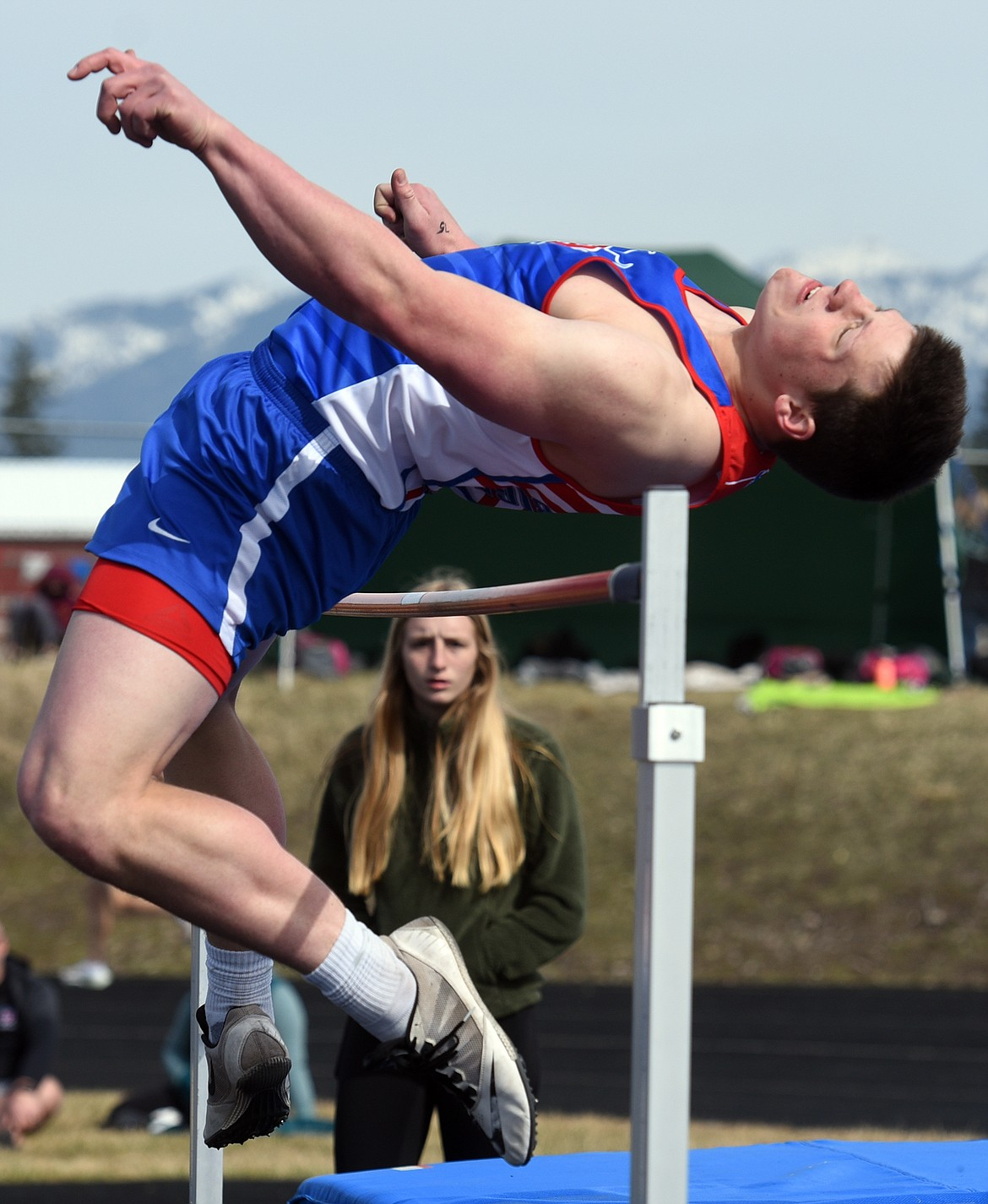 Levi Taylor finished fourth in the high jump after clearing 5 feet, 8 inches.