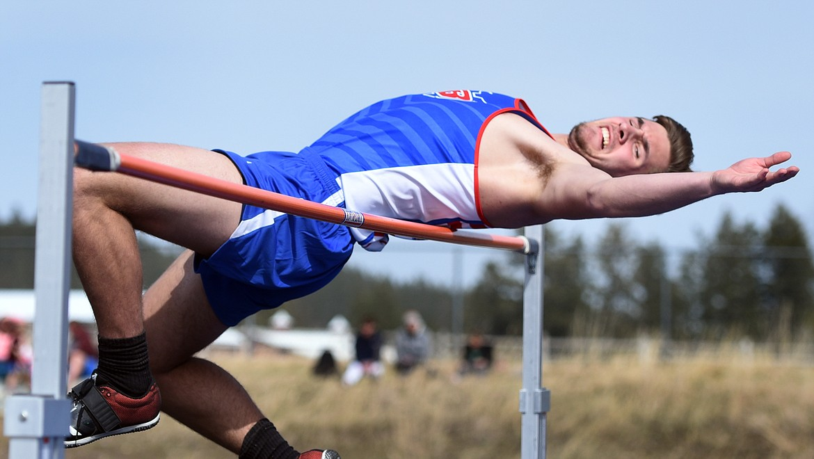 Cormac Benn was second in the high jump as he cleared a height of 6 feet, a personal best. Jeremy Weber/Bigfork Eagle