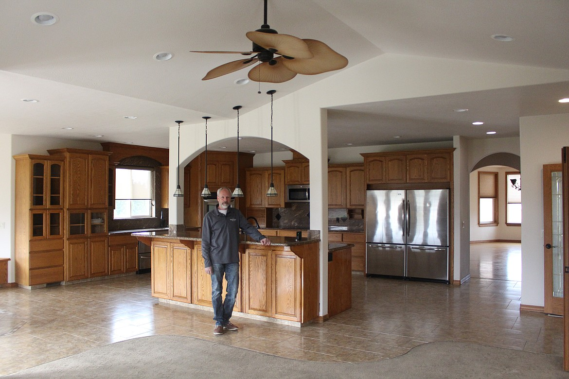 Kevin Burgess shows off the type of open-floor plan that home buyers seem to be looking for when searching for their new home in the Columbia Basin.