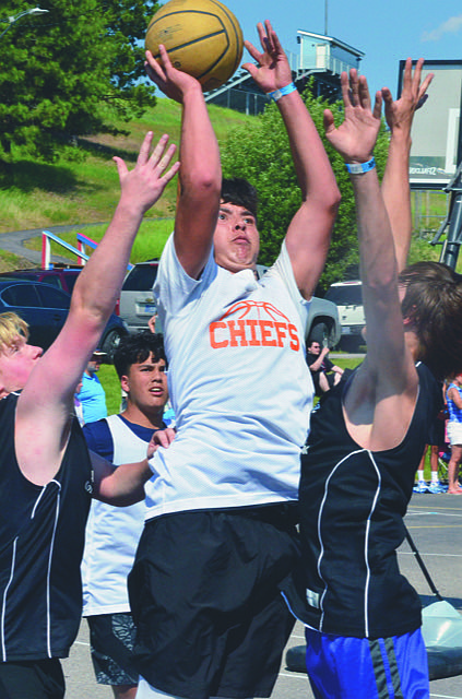 The 28th annual Flathead Lake 3 on 3 basketball tournament is tentatively scheduled for July 24-25 on the streets of downtown Polson.(Lake County Leader file photo)