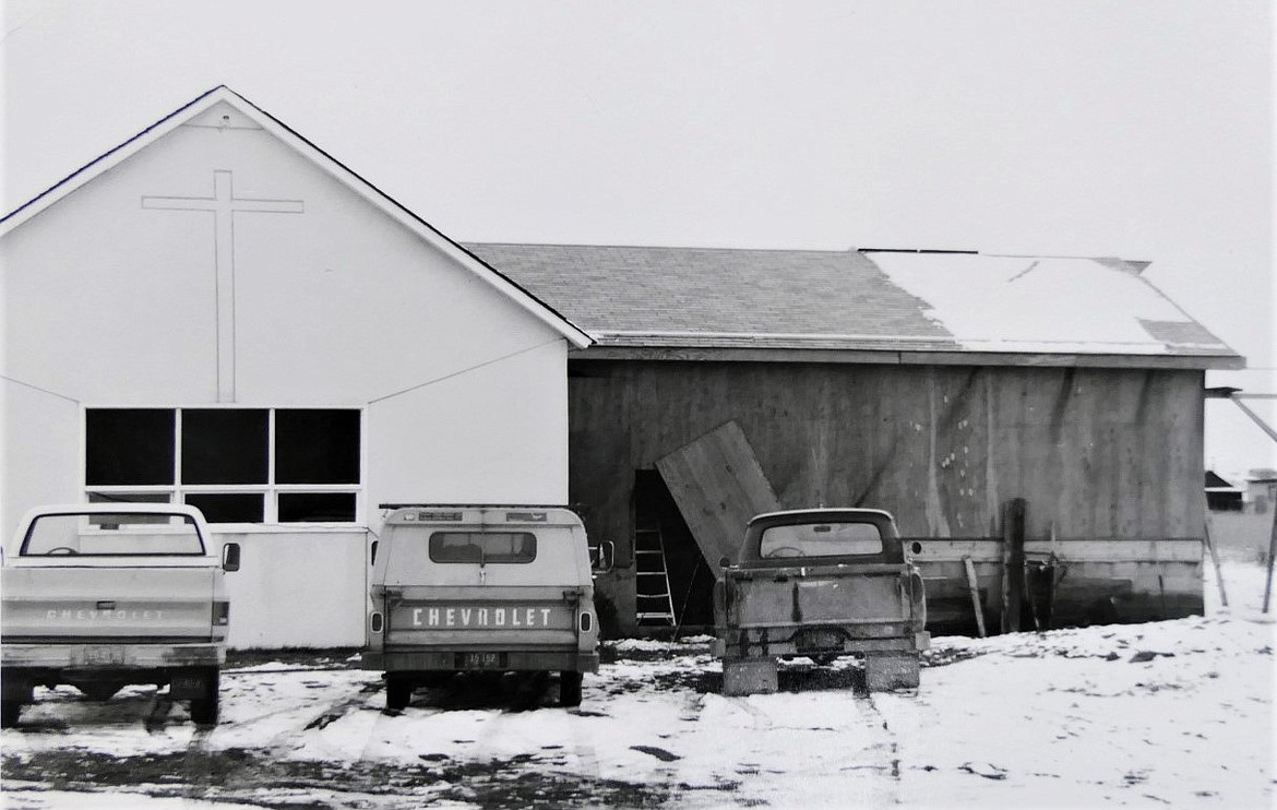 Church of the Nazarene began meeting in the old Pablo gym in 1955. They purchased the Reservoir Valley school house when that district closed, and moved the building to the church's 2-acre site. (Courtesy photo)