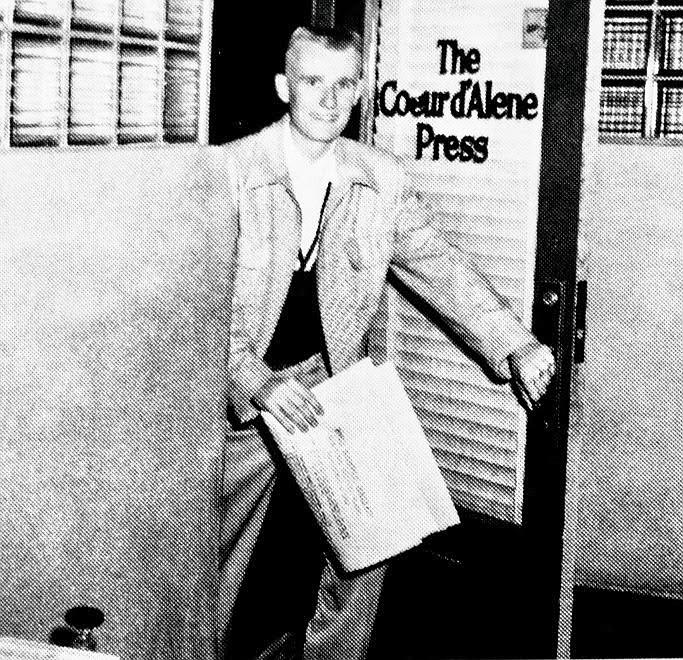 Duane Hagadone as a young newspaperman at The Coeur d'Alene Press.