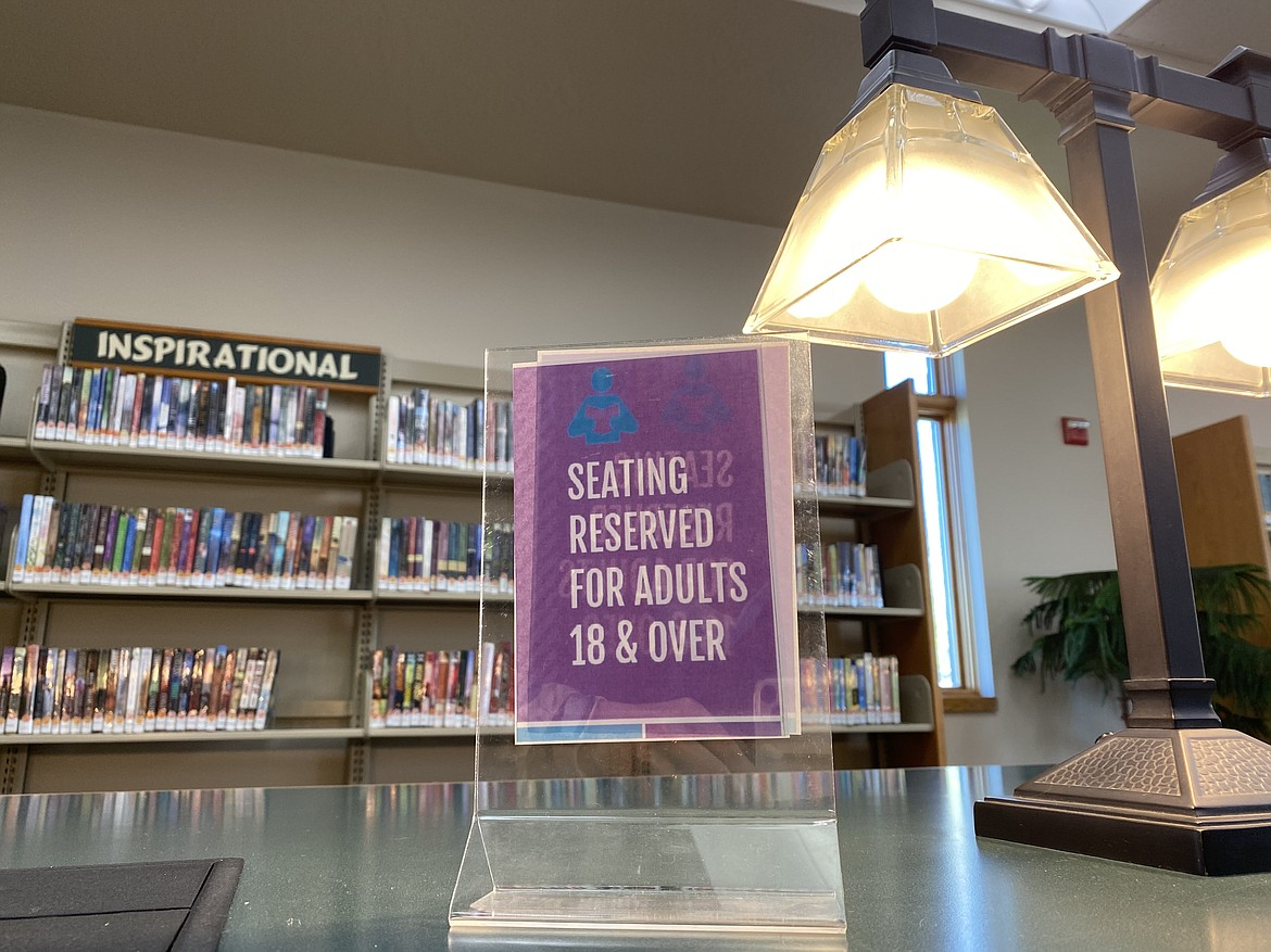 In addition to separating materials by content, the Community Library Network has signage to alert patrons of recommended reading age levels. (MADISON HARDY/Press)