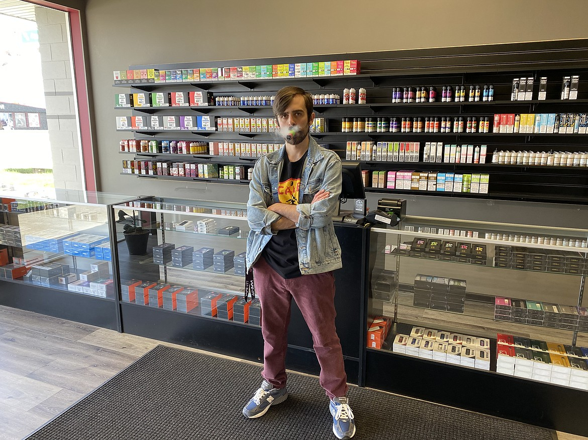 Courtesy photo Paul Barbieri stands in the Vape-It! Ecigs shop at 2310 N. Fourth St. (a former tuxedo shop).