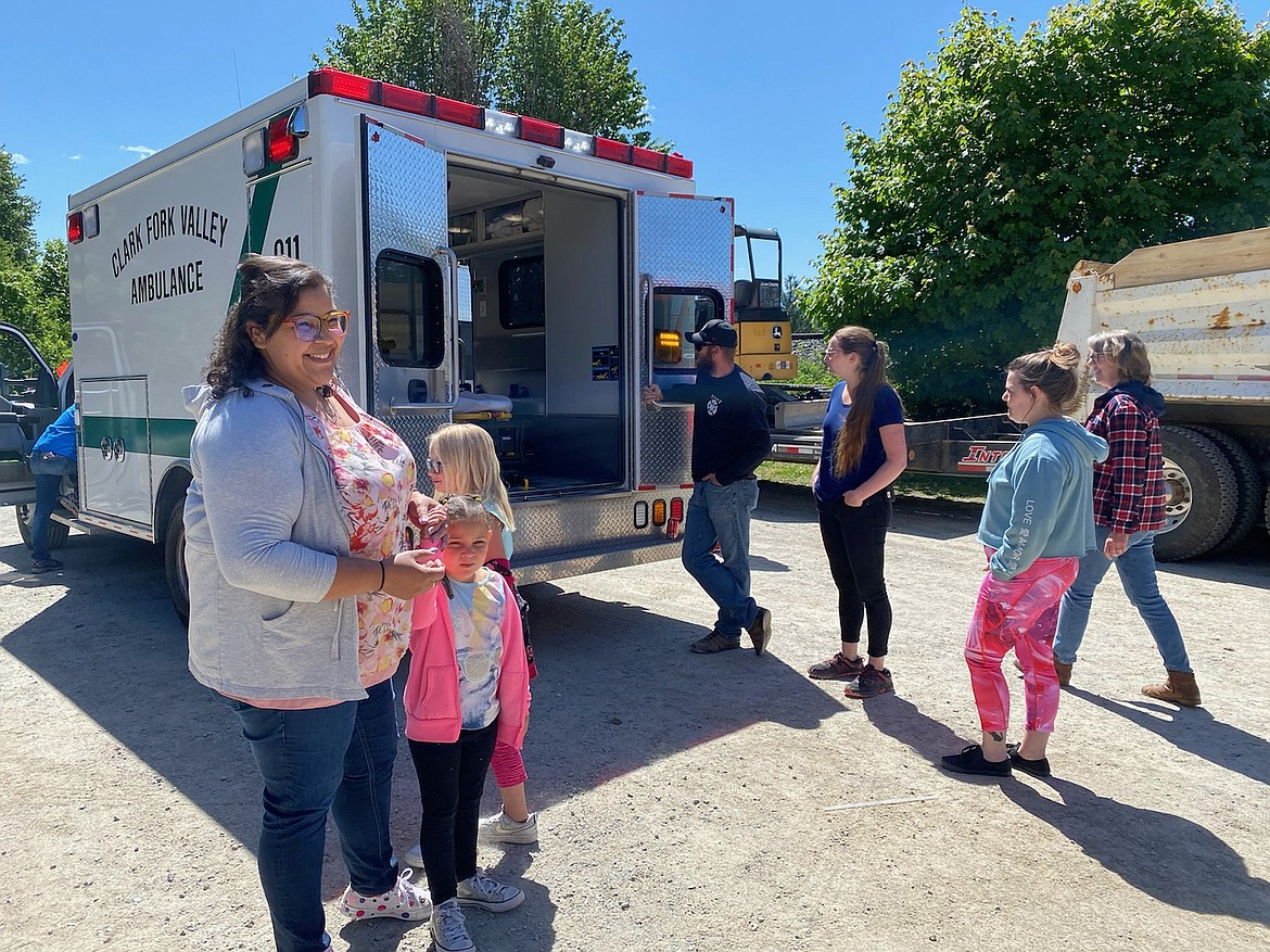 Children and families get to check out the ambulance up close and personal at the Hope Preschool Family Day.