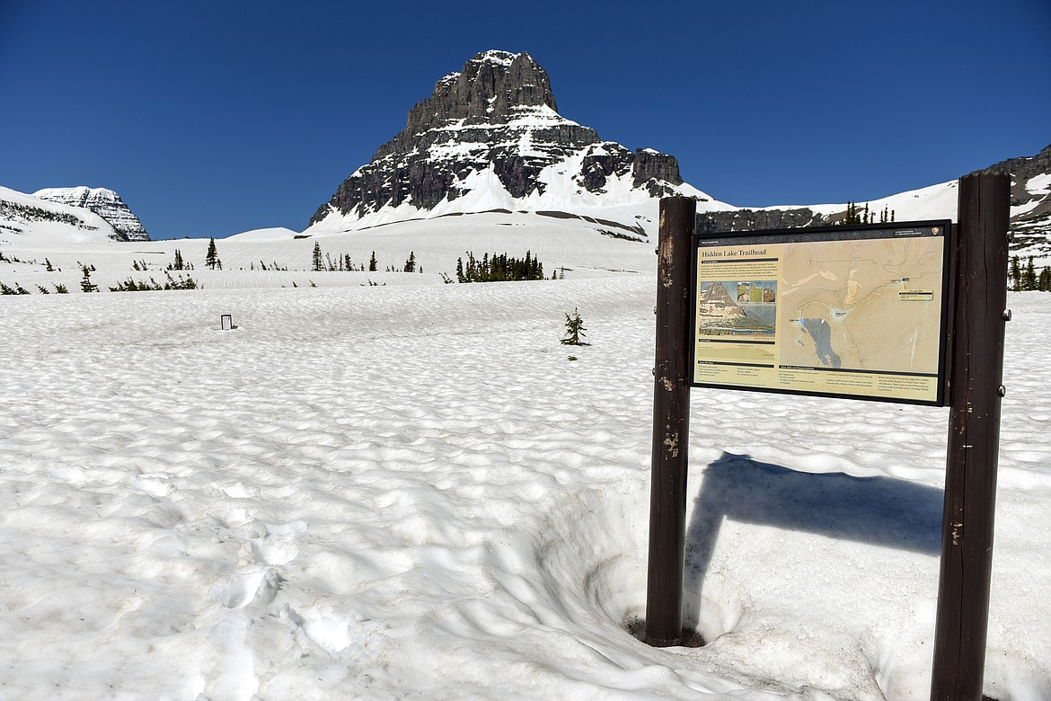 The Hidden Lake Trailhead at Logan Pass in Glacier National Park is seen on Wednesday, June 2, 2021. (Casey Kreider/Daily Inter Lake)