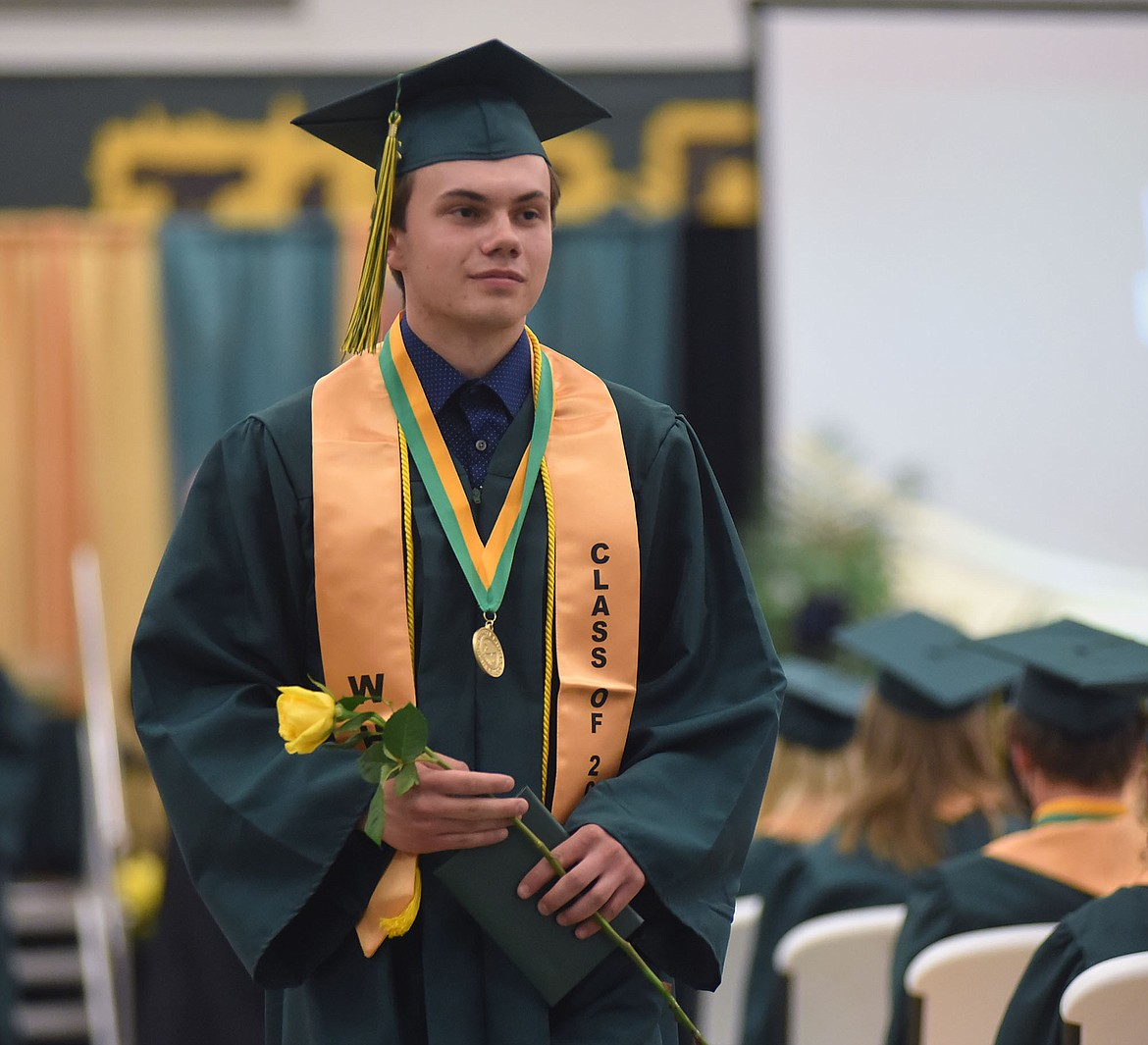 Whitefish High School graduated 138 seniors with the Class of 2021 Saturday during a commencement ceremony at the high school gym. (Heidi Desch/Whitefish Pilot)