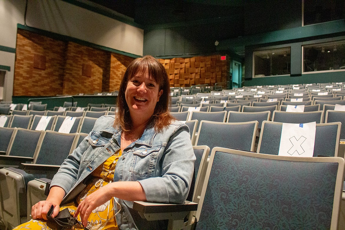 Sharon Winningham, sitting in the theater seats at the Moses Lake High School theater on Tuesday afternoon, reflected on her first year as drama advisor with the high school.