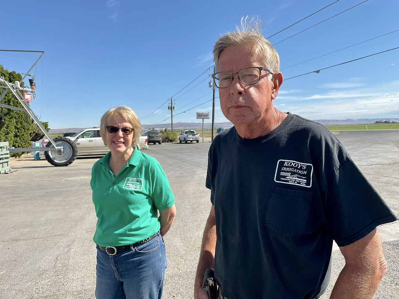 Arlene Keller and her brother Wes Kooy of Kooy Irrigation.