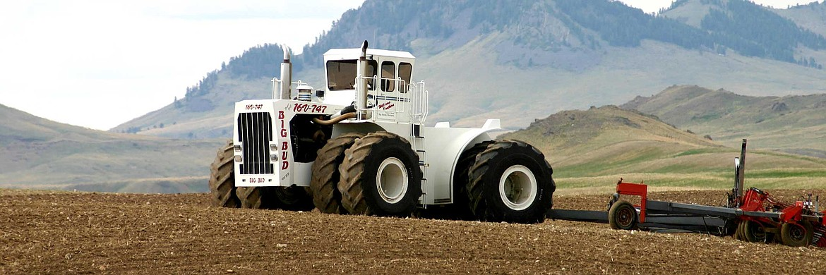 Built in Havre in 1977, the Big Bud 747 is the largest farm tractor ever built. Big Bud will be on display at the Flathead County Fairground July 2-5. (photo provided)