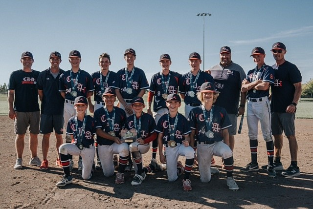 Courtesy photo The Coeur d'Alene Lumbermen 13U baseball team' won the Triple Crown Tri-Cities Father's Day Slugfest in Kennewick, Wash., on Sunday. It was the Lums' third straight tournament championship in the past three weekends. In the front row from left are Payton Bateman, Ethan Blanco, Kolbie Wilson, Ryder Bishop and Ben Murray; and back row from left, coach Chad Murray, coach Brent Everson, Deacon Hunter, Will Jackson, Beau Pearson, Wren Jackson, Blake Foulk, coach Chris Pearson, Andy Everson and head coach Kris Jackson.