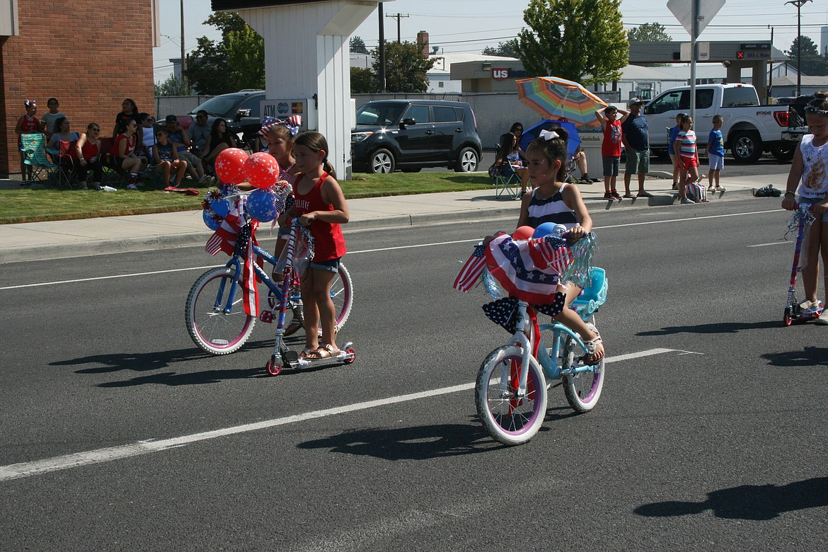 Kids decorated their bikes and scooters for the Independence Day parade July 3 in Othello.