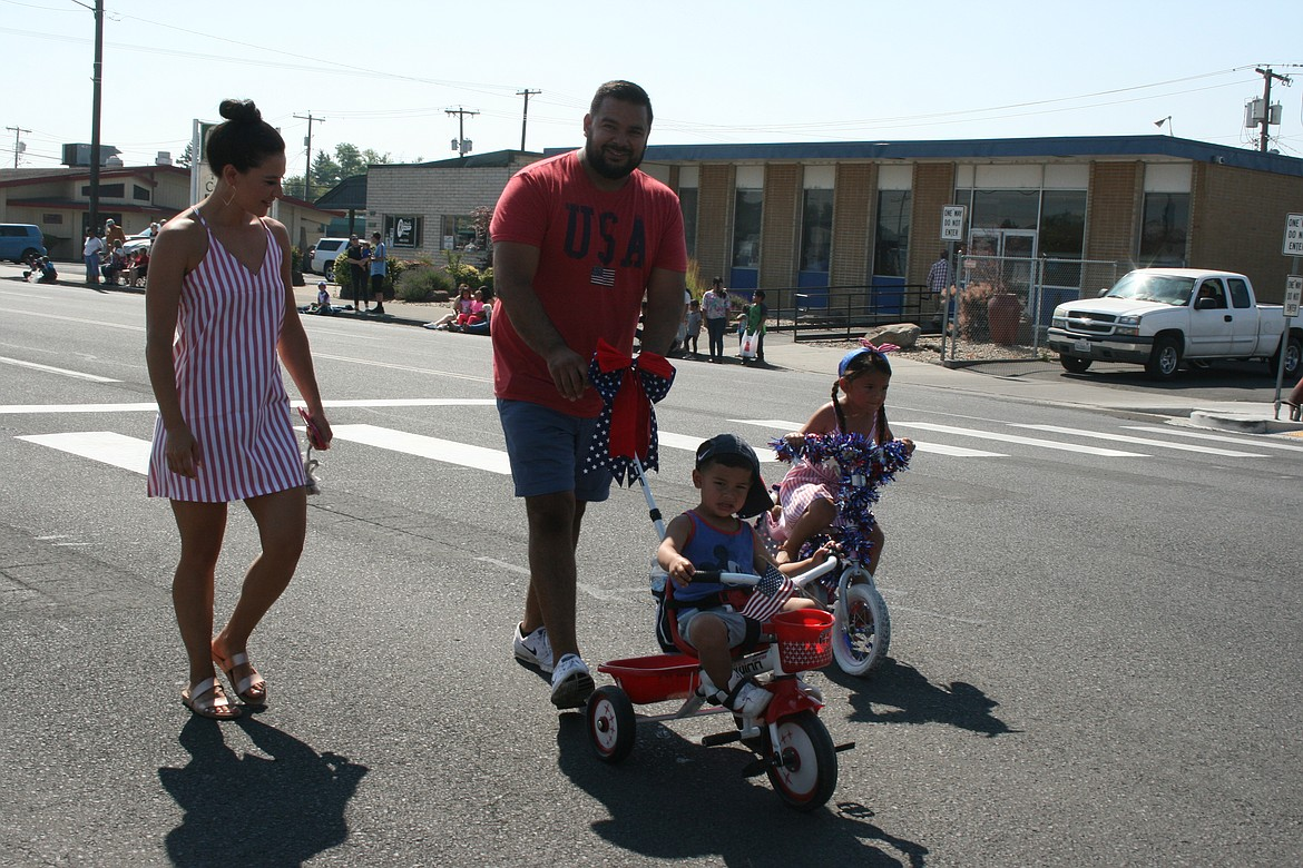 Children and their moms and dads brought out their trikes for the Independence Day parade in Othello July 3.