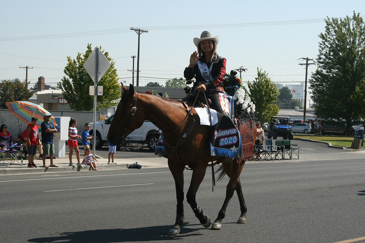 Othello Rodeo queen Brianna Kin Kade was among the participants in the Othello Independence Day parade July 3.