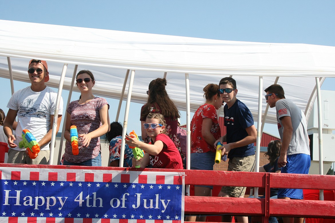 The water cannons came out during the Independence Day parade July 3 in Othello.