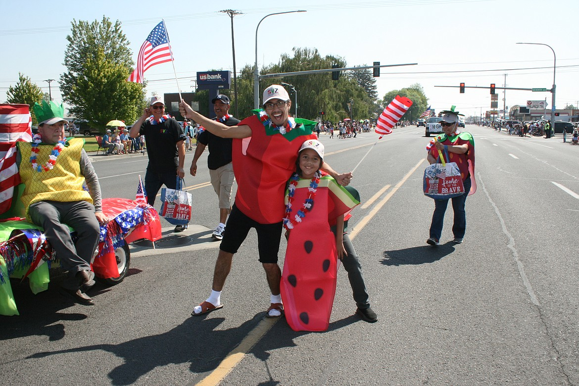 Pretty much everybody, even the strawberries, had a good time in the Independence Day parade July 3 in Othello.