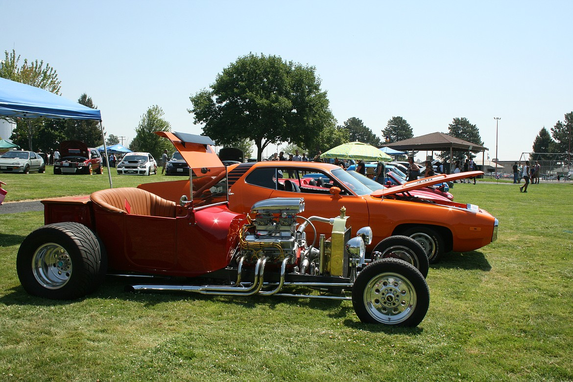 Sweet rides line up and show off during the car show held as part of the Independence Day celebration Saturday in Othello.